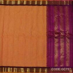 Gadwal pure cotton saree with Small Cheks-GC75
