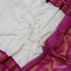 Gadwal pure cotton saree with Small Cheks-GC77