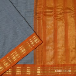 Gadwal pure cotton saree with Small Cheks-GC78