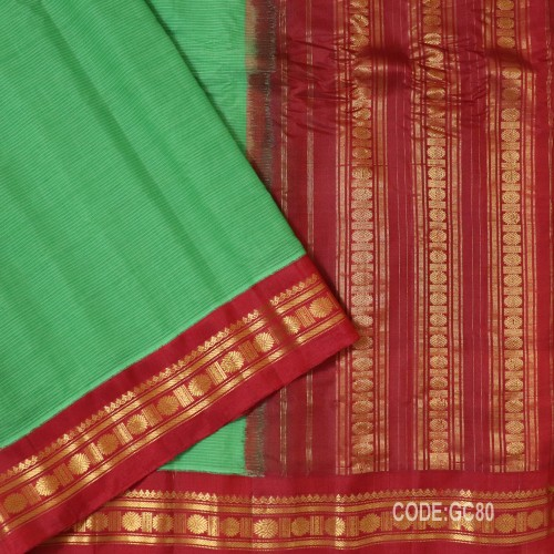 Gadwal pure cotton saree with Small Cheks-GC80