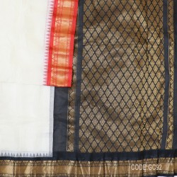 Gadwal pure cotton saree with Small Cheks-GC92