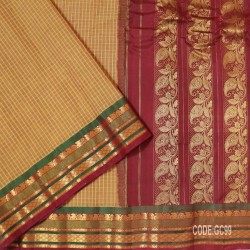 Gadwal pure cotton saree with Small Cheks-GC99