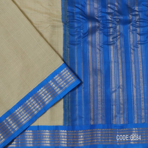 Gadwal pure cotton saree with Small Cheks-GC84