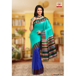Uppada soft silk partly style Half & Half