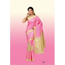 Light Weight Soft Silk Saree plain with long Border