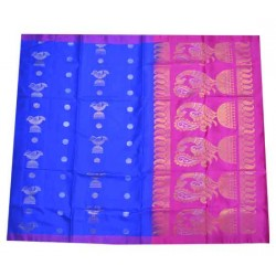 Light weight Soft Silk Small Resham Border
