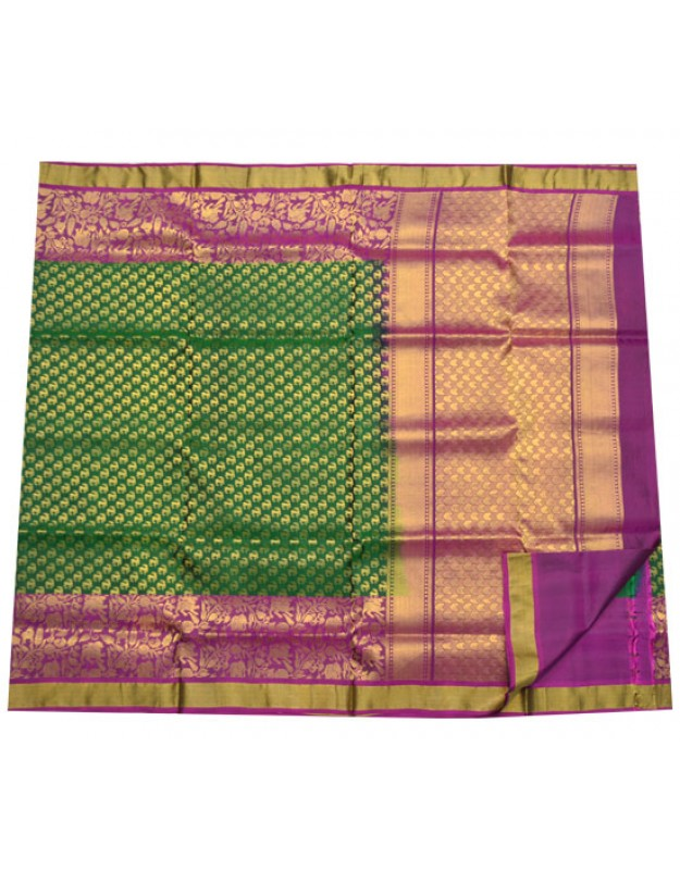 Latest Bridal Silk Saree Attractive Combination