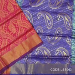 Beautifull Soft Silk Saree with Floral Designed Motifs-LSS063