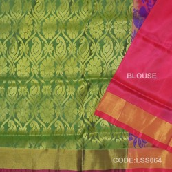 Beautifull Soft Silk Saree with Floral Designed Motifs-LSS064