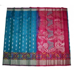 Excellent Light Weight Soft Silk Exclusive Ikkat Border Design