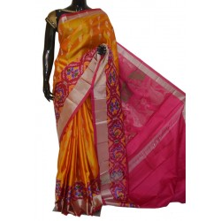 Attractive Light Weight Soft Silk Exclusive Ikkat Border Design
