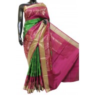 Attractive Green Bridal Silk Saree Elegant Look Combination