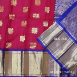 Latest Oraganza Saree With Broad Borders-ORK001