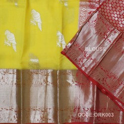 Latest Oraganza Saree With Broad Borders-ORK003