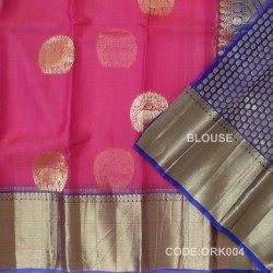 Latest Oraganza Saree With Broad Borders-ORK004