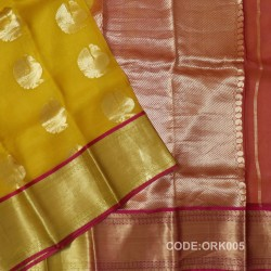 Latest Oraganza Saree With Broad Borders-ORK005