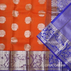 Latest Oraganza Saree With Broad Borders-ORK006