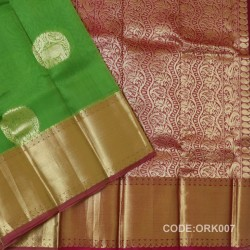 Latest Oraganza Saree With Broad Borders-ORK007