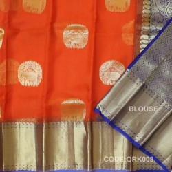 Latest Oraganza Saree With Broad Borders-ORK008