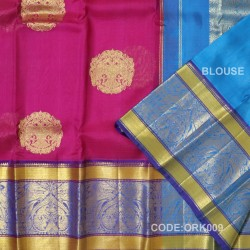Latest Oraganza Saree With Broad Borders-ORK009