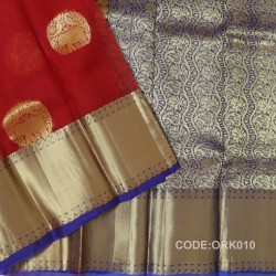 Latest Oraganza Saree With Broad Borders-ORK010