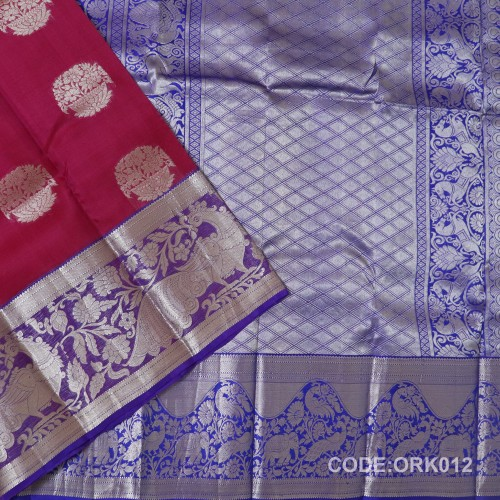 Latest Oraganza Saree With Broad Borders-ORK012