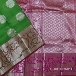 Latest Oraganza Saree With Broad Borders-ORK014