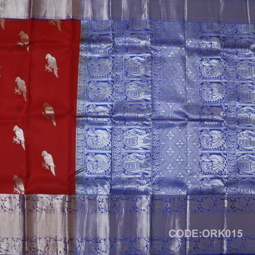 Latest Oraganza Saree With Broad Borders-ORK015