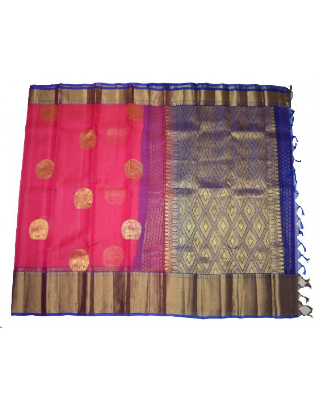 Organza Pure Zari With Exclusive Long Border