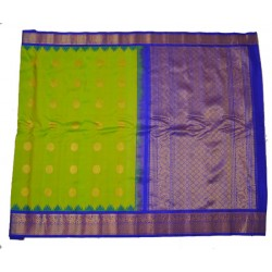 Gadwal Pure Silk Latest Temple Border with Floral Butta