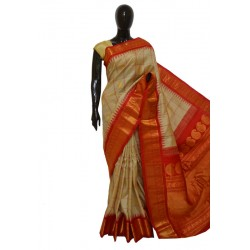 Gadwal Pure Silk Latest Temple Border checks with Floral Butta