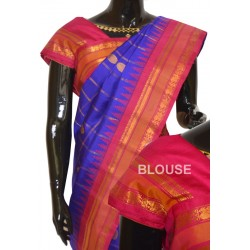 Gadwal Pure Silk Allover Zari Checks with Doller Butta