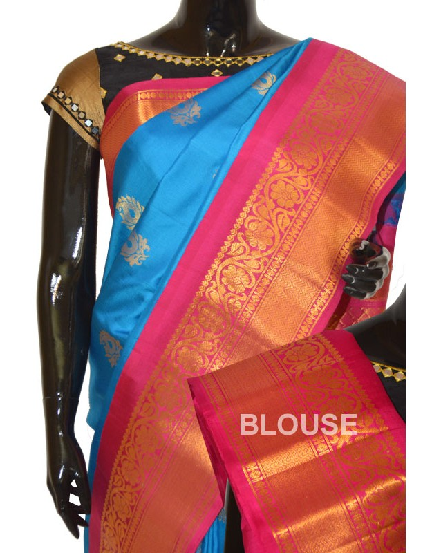 Gadwal Pattu Silk Exclusive Long Border Kairy Butta