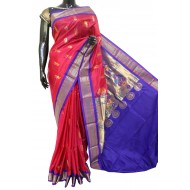 Gadwal Pure Silk with Paithani Pallu
