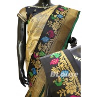 Gadwal Pure Silk With Beautiful Paithani Border Brocade