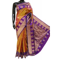 Gadwal Pure Silk With Paithani Motifs on the Body