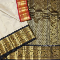 Gadwal Pure Silk Brocade with Gangajemuna Border - GPS653