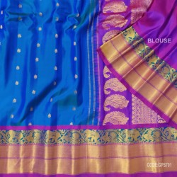 Gadwal Pure Silk Saree with Attractive Colour Combination