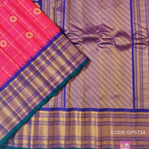 Gadwal Pure Silk Saree with Cheks
