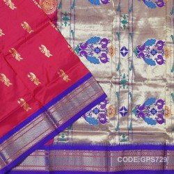 Gadwal Handwoven Pure Silk Saree-GPS729