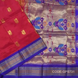Gadwal Handwoven Pure Silk Saree-GPS731