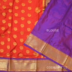 Gadwal Handwoven Pure Silk Saree-GPS732