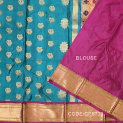 Gadwal Handwoven Pure Silk Saree-GPS733