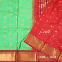 Gadwal Handwoven Pure Silk Saree-GPS734