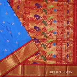 Gadwal Handwoven Pure Silk Saree-GPS735