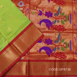 Gadwal Handwoven Pure Silk Saree-GPS736