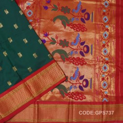 Gadwal Handwoven Pure Silk Saree-GPS737