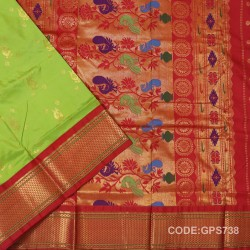 Gadwal Handwoven Pure Silk Saree-GPS738