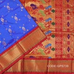Gadwal Handwoven Pure Silk Saree-GPS739