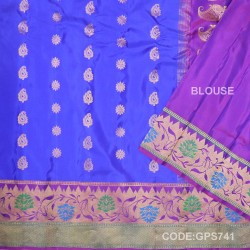 Gadwal Handwoven Pure Silk Saree-GPS741